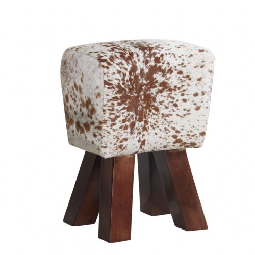 Cream and Brown Footstool